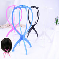 Plastic folding stable durable wig hair head hat cap display holder stand RDNK