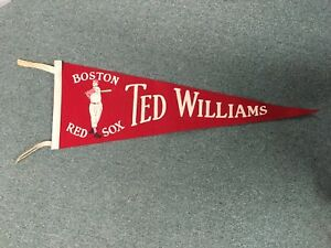 "1940's Boston Red Sox Ted Williams Baseball Team 26"" Pennant"