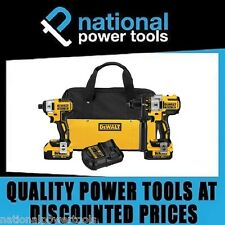 NEW DEWALT BRUSHLESS 2 PIECE CORDLESS COMBO KIT XR DCD996 DCF886 4.0AH Batteries