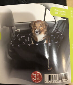 Zoofari Pet Car Seat Cover 124 X 122cm Black