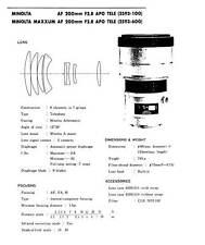 Minolta AF 200mm f2.8 APO Tele Service Repair Manual