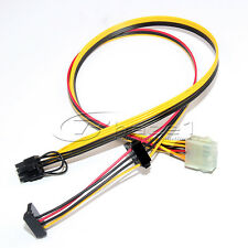 10pin HP Serveur Bloc d'alimentation Câble d'alimentation pour PCI-E 8pin + Molex 4 broches + sata alimentation 15pin