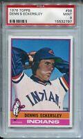 1976 Topps Baseball #98 Dennis Eckersley Rookie Card RC Graded PSA MINT 9 '76