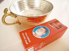 Copper Shaving Soap Bowl w/ Handle & Rare Camelot Shaving Soap Stick 75g razor