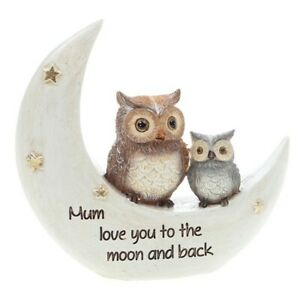 Night Owl Mum Love You Too The Moon Ornament Gift