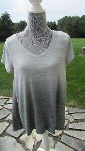 NWT Calvin Klein performance athletic short sleeve Gray blouse M