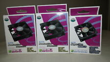 Lot of 3 - Cooler Master Sleeve Bearing 92mm Case Fan R4-S9S-19AK-GP + 80mm