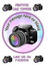 ND1 photography camera Birthday personalised round cake topper icing