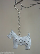 Vintage Hanging DOG Metal Shabby Chic Key Ring Decoration Scottie Westie