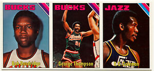 1975-76 Topps BOB DANDRIDGE GEORGE THOMPSON +1 Blank Back 1/1 Vault Uncut Sheet