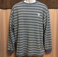 Vintage Guess Jeans Exclusive Design Striped Tee Longsleeve Size Large