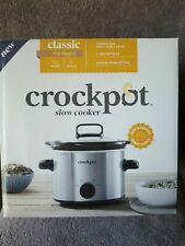 Sunbeam Crockpot 2qt Slow Cooker Classic Big Dipper 3 Settings Steel Finish