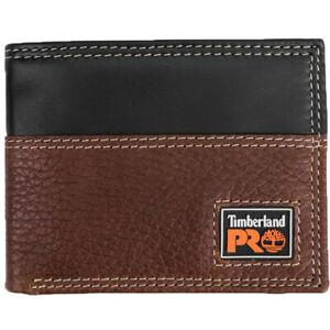 Timberland Pro Leather Wallet Men's Teak Billfold RFID Protection Wallet