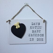 Chalkboard Countdown to Birth plaque/sign BABY SHOWER gift Can be Personalised