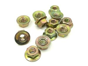 12 pcs 1/4-20 captured loose washer yellow zinc hex nuts