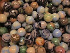 "2 POUNDS OF 1"" Jabo 1990's Shooter Marbles Many Glow Under Black Light Free Ship"