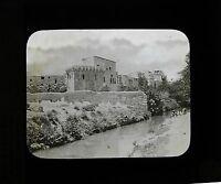 Casa di Anania Targa Di Proiezione Per Lanterna Magica Vintage Ca 1900