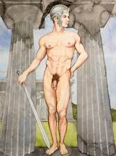Oh boy, homme nu, watercolor print nude male at Hera Greek gay interest