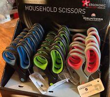 "GRUNWERG 7"" HOUSEHOLD SCISSORS STAINLESS STEEL ERGONOMIC SAFE-GRIP HANDLES"