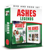 ASHES LEGENDS DVD AND THE ASHES PLAYER BOOK BOX GIFT SET - CRICKET LEGENDS