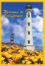 """Welcome California Lighthouse House Size (28"""" x 40"""" Approx) Flag.8. Pr 52228"""