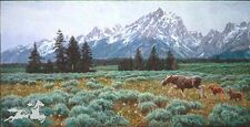 Summer in the Tetons by Jan Martin McGuire Gran Tetons Moose SN LE Art Print