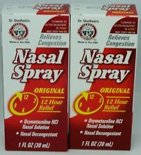2 Dr Sheffield's ORIGINAL Nasal Spray Relieves Congestion 1oz Each Sealed