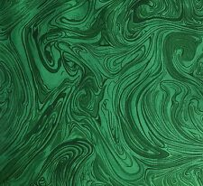 Dark Green FQ Fat Quarter Fabric Marble Blended 100% Cotton Quilting