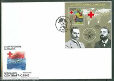 CENTRAL AFRICA 2014 BATTLE AGAINST MALARIA  SOUVENIR SHEET  FIRST DAY COVER