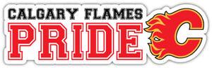Calgary Flames Pride NHL Sport Car Bumper Sticker Decal  ''SIZES''
