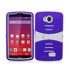 LG OPTIMUS F60 TRIBUTE TRANSPYRE HYBRID RIPPLE CASE W/STAND COVER LS660 MS395