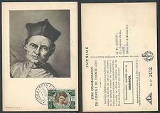 1946 VATICANO CARTOLINA MAXIMUM CONCILIO DI TRENTO ESPRESSO 6 LIRE - F