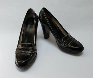 Enzo Angiolini Shoes Heels Pumps Shiny Black Vaxter Womens Size 8 M