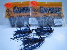 GAMBLER NINJA CLAW Trailers - Black / Blue Combo with 3 Custom Mustad EWG Jigs