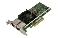 Dell Intel X540-T2 Dual 10GB 10G 10GBe 10BASE-T RJ45 Ethernet PCI-E 3DFV8 HH