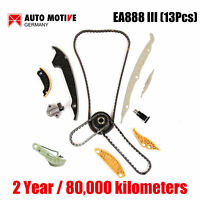 13pcs EA888 III Timing Chain Tensioner Kit Fit for VW Beetle Audi A3 A4 1.8 2.0T