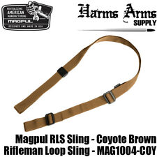"Magpul RLS Sling 2-Point - Coyote Brown - Nylon - 1.25"" Wide - MAG1004-COY Tan"