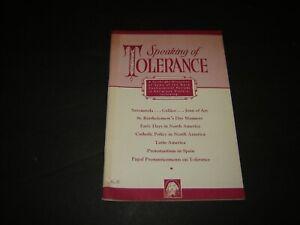 Knights of Columbus Magazine  #8 - 1956 Speaking of tolerance