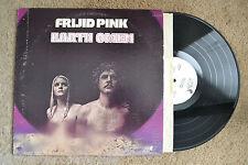 FRIJID PINK Earth Omen Rock WLP white label promo RECORD LP VG++