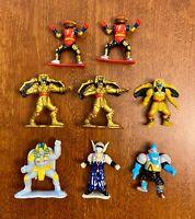 """Vtg 1994 Power Rangers Bandai Goldar Sphinx Finster  3"""" PVC Figure ~ Lot of (8)"""