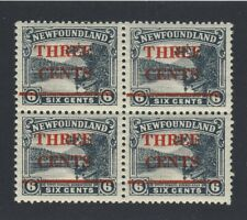 4x Newfoundland Stamps Blk of 4= 3x #160 1x#160iii-3c/6c All MNH VF GV= $136.00