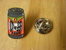 Duff Beer can pin badge.The Simpsons. Homer Simpson beer