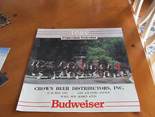 Budweiser Beer Clydesdale Calendar 1987 Beautiful pictures  (30th Birthday Gift)
