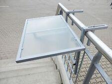 Balkonhängetisch, 60 x 40 cm, Glasplatte