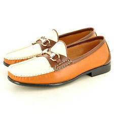 Men's Leather Look Casual Loafers Moccasins Slip on Driving Shoes UK Sizes