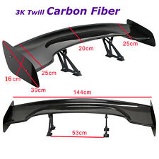 "Car 57"" GT Real Carbon Fiber  Adjustable Rear Trunk Spoiler Wing Universal"