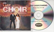 Last Choir Standing 2008 UK 20-trk promo test CD Only Men Aloud