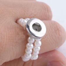Ring für Click Button Mini dehnbar Perlen für 12mm Chunk-Systeme 0305
