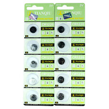 10 PCS CR1220 Lithium Battery 3V Button Cell Watch Remote US free shipping