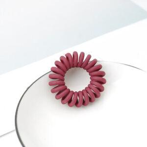Elastic Telephone Wire Cord Head Ties Hair Band Rope Black Hairband Waterproof 5